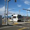 Meeting a Milwaukie-bound train at OMSI (Tysasi) Tags: brevet permanent populaire randonneuring sd600 sd660 portlandmilwaukielightrail pmlr orangeline sn