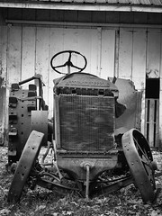 Hillbilly Walmart - Cool Springs Park, West Virginia (The Shared Experience) Tags: p7800 2015 wv usa fall roadtrip americana bw niksilverefexpro2 nostalgic dramatic antique tractors farm old