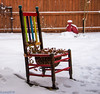 Colorful Rocking Chair on a Snowy Day (JuanJ) Tags: nikon d600 lightroom art bokeh nature lens light landscape white green red black pink sky people portrait location architecture building city iphone iphoneography square squareformat instagramapp shot awesome supershot beauty cute new flickr amazing photo photograph fav favorite favs picture me explore interestingness wedding party family travel friend friends vacation beach 2017 january lexington kentucky ky colorful chair snow
