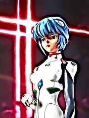 Neon Genesis Evangelion +++ 1:5 Rei Ayanami in plugsuit (dizzyfugu) Tags: anime comic model kit resin character figure garage evangelion rei ayanami asuka plug suit dizzyfugu modellbau catsuit bodysuit plugsuit white red eyes nge blue hair portrait cartoon style manga