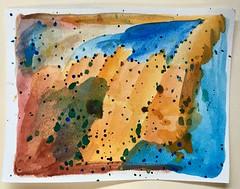 34/365/7 (f l a m i n g o) Tags: friday 365days project365 2018 26th january paper card watercolor painting art