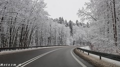 Droga, ulica, śnieg zaśnieżona jezdnia, zima-123401