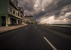 Ghost town (Marco Bontenbal (Pixanpictures.com)) Tags: abandoned decay decayed history street beach sea old photography beautiful world cuba natural light naturallight nikon d750 tamron 1530 clouds building road mysterious forgotten ghost town downtown lost amazing havana