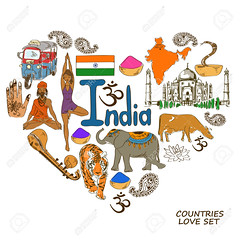 Indian symbols in heart shape concept (wajadoon) Tags: india map icon tajmahal vector heart flag travel yoga asana elephant sketch doodle sadhu guru yogi snake cobra cow tiger illustration love concept shape spices mehndi om meditation animal culture asia tuktuk taxi lotus country flower national landmark symbol set collection background color drawing religion vina music sitar