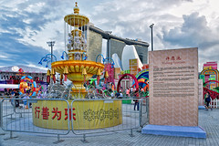 Wishing Fountain (chooyutshing) Tags: wishingwell lanternthemeset display riverhongbao2018 thefloatmarinabay chinesenewyear lunarnewyear yearofthedog festival attractions marinabay singapore