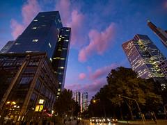 October evening in Frankfurt (un2112) Tags: frankfurt laowa laowa75 laowa75mm urbanlandscape october evening bluehour