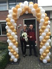 ballonnenboog goud wit