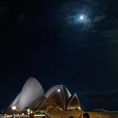 Moon Over Sydney Opera House (dcstep) Tags: a7r9579dxo sydneyoperahouse moon water night sonya7riii fe1224mmf4g allrightsreserved copyright2018davidcstephens instagram moonlight moonlit reflection