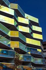 Architecture - Résidence KOH-I-NOOR - Montpellier (Jean-Louis L.) Tags: architecture montpellier occitanie france fr kohinoor immeuble jaune bleu yellow blue building