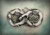 Ouroboros Infinity Snake Art by Sherrie Thai of Shaireproductions (shaire productions) Tags: gothic snake horror undead art floral nature flowers serpent reptile beauty dark fantasy surrealism ouroboros infinity shaireproductions artwork drawing illustration bones skeleton creature