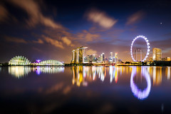 Singapore city skyline at night (Patrick Foto ;)) Tags: architecture asian background bay blue building business center central city cityscape commercial copyspace district downtown dusk evening exterior famous finance financial illuminated landmark landscape light marina metropolis modern night office outdoors reflection river riverside sea singapore sky skyline skyscraper southeast structure tourism tower town travel twilight urban water waterfront wheel sg