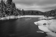 Deer Lake (Kevin Tataryn) Tags: winter lake deer deerlake laurentians quebec mountains canada nikon d500 1755 snow longexposure sundaylights