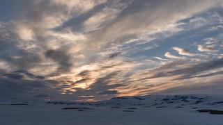 Sunset at Hardangervidda, Norway