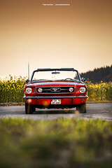 1966 Ford Mustang Convertible - Shot 9 (Dejan Marinkovic Photography) Tags: 1966 american car classic convertible ford mustang red sunset sundown