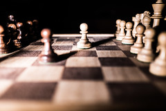 Pins and forks (JtDots.com) Tags: chess strategy figures bishop castle king queen square tactic game chessgame firstmove first move play forking horse
