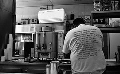Lafayette Coney Island (L55ZJNIT6B2KYV5V62Z4HAWSXZ) Tags: detroit restaurant film 35mm kodak rangefinder negative scanned zeiss ikon people urban street