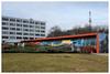 Bufet (awbaganz) Tags: architecture buffet housing building praha prague prag strahov fujfilm xe1 xf27 orange lawn brutalism