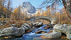 The bridge to Heaven (_Nick Photography_) Tags: img3843 img3847 hdr alpeveglia alpinelandscape fall monteleone creek highresolution longexposure slowshutter regionepiemonte bellezza natura paesaggio escursione panorama parconaturalealpevegliadevero nd4filter