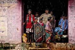 Under the rain (Ma Poupoule) Tags: inde india rain pluie nandapur asia asie orisha orissa adivasis street odisha