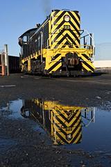 23 Reflections (caltrain927) Tags: san francisco bay railroad belt sfbr alco s2 american locomotive company 1944 waste solutions group train diesel engine california ca