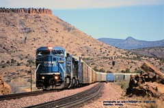 .(SEE & HEAR)---CR 6162, wb, Valentine, AZ. 5-02-1996 (jackdk) Tags: train railroad railway locomotive ge gelocomotive cr conrail atsf santafe bnsf valentine valentinearizona desert seeandhear seehear