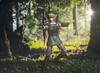 The Legend of Zelda: Link Aims for his Next Target (jezbags) Tags: legend zelda link aim target twilight figma actionfigure figure nintendo wood arrow macro macrophotography macrodreams canon80d canon 80d 100mm closeup upclose light leak grass