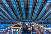 Toki-no-hiroba Plaza (Hiro_A) Tags: architecture osaka station railwaystation blue japan sony rx100m3