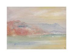 L'Esterel (Yvan LEMEUR) Tags: aquarelle watercolour acuarela côte esterel landscape paysage peinture meretmontagne