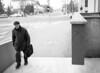Ljubljana passage (Karlovcec) Tags: streetphotography ljubljana man street walk blackandwhite bw film mamiya epson v700 ilford hp5