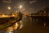 Bristol-08530 (John French - Happy Snapper) Tags: bristol evening night streetlights moon swans river harbourside