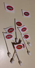 Flag LOGO 01 (GoodPlay2) Tags: lego legos 60s 70s 50s vintage classic original rare retro early old flag plagpole logo decal bogbone mursten system leg play