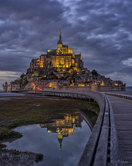 _DSC2035-HDR copy Explored! (kaioyang) Tags: montsaintmichel normandy france reflections bluehours clouds lights sony a7r2 voigtlander apo lanthar 65mm f20 mt