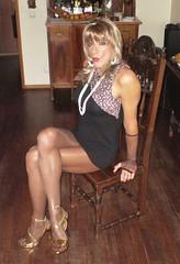 Karen (Karen Maris) Tags: tg tgirl tgurl karen legs pantyhose tranny trannie transvestite transsexual transgender tights blonde heels highheels sheer crossdress crossdresser