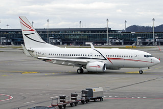 LUK Aviation Boeing 737-7EM(BBJ) VP-CLR ZRH 26-01-18