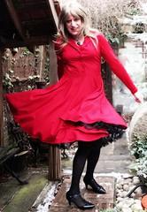 Travel Dress :-) (Amber :-)) Tags: burgundy dress tgirl transvestite crossdressing
