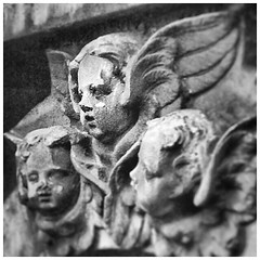 Charming Putti, St Mary Woolnoth (HistoryLondon) Tags: bw hawksmoor cityoflondon bank stmarywoolnoth cherub putti history london