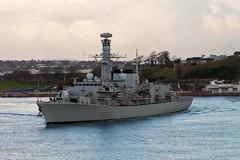 HMS Westminster 5th November 2017 #9 (JDurston2009) Tags: f237 hmswestminster devon dukeclass frigate plymouth royalnavy type23 warship hamoaze rivertamar