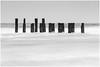 Posts (Steven Peachey) Tags: seascape mono blackwhite canon 5dmarkiv ef70200mmf4l leefilters lee09gnd northeastengland uk monochrome posts beach
