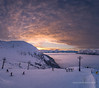 Light at the end of the tunnel (Traylor Photography) Tags: tram girdwood sunset mountains alyeska ski alpenglow cloudinversion snowboard roundhouse slopes colors turnagainarm shadows snow alaska light anchorage unitedstates us