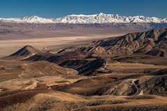 The Snow Line and the Winding Road (Kurt Lawson) Tags: 190 capped copyrighted death desert desolate fresh highway lake mojave mountains national panamint park peak range road snow snowcapped telescope valley