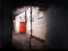 The Red Door.. (sbox) Tags: penrith england lakedistrict painterly textures sbox declanod red door doorway painting digital digitalart alley magicunicornverybest