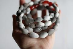 IMG_1192_stardust_carnelian (Anastàssia) Tags: smoke fired ceramics smokefiredceramics ceramicjewelry jewelry jewelrydesign gray grey handmade fetama hechoamano slowfashion imadeit
