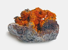 Wulfenite with Mimetite (Ron Wolf) Tags: earthscience geology mimetite mineralogy wulfenite crystal mineral monoclinic nature ore tetragonal arizona