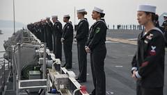 180114-N-SA412-1027 (Commander, U.S. 7th Fleet) Tags: navy usswasp sailors mantherails sasebo usswasplhd1 pacificocean atsea usa