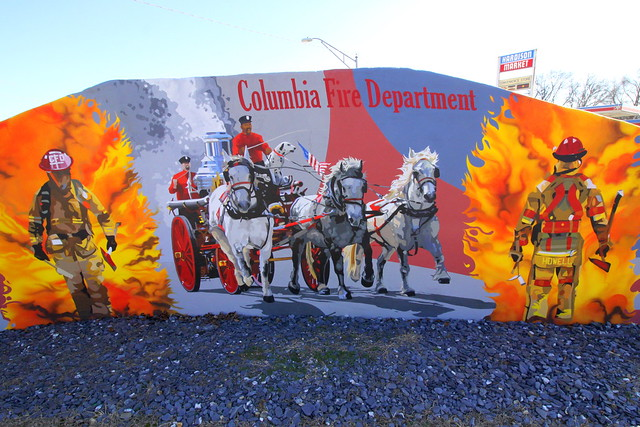 Columbia Fire Department mural