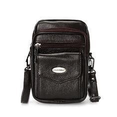 5.3 Inches Cellphone Men Genuine Leather Vintage Waist Bag Crossbody Bag (1149972) #Banggood (SuperDeals.BG) Tags: superdeals banggood bags shoes 53 inches cellphone men genuine leather vintage waist bag crossbody 1149972