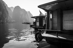 Guilin Ferries (mlhell) Tags: blackwhite china ferry guilin karstmountains landscape lijangriver mountains nature river rural xingping