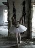 Can't stand it (JoeyJen) Tags: surreal disturbing ballerina abandonedplaces conceptual mask asylum dancer fool crazy conceptualphotography distress bizarre abandoned