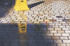 piso mojado (rockinmonique) Tags: floor reflection wet sign tiles mexico hotelplayamazatlan maxatlan poolside brick yellow moniquew canon canont6s tamron tamron45mm copyright2018moniquewphotography