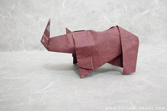 28/365 Simple Rhynoceros (unknown author) (origami_artist_diego) Tags: origami origamichallenge 365days 365origamichallenge rhynoceros